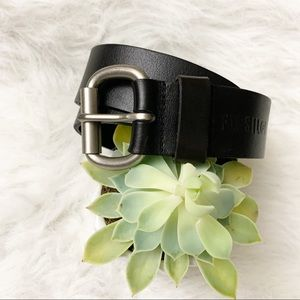 Fossil Leather Belt Black Size 32